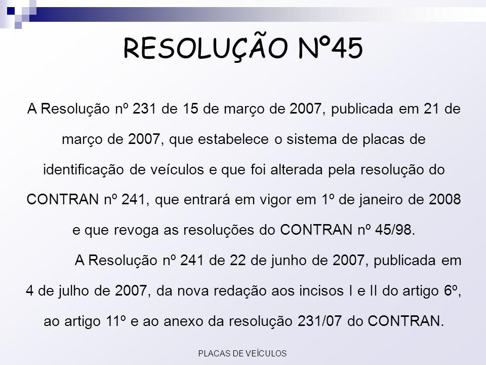 RESOLUÇÃO Nº45