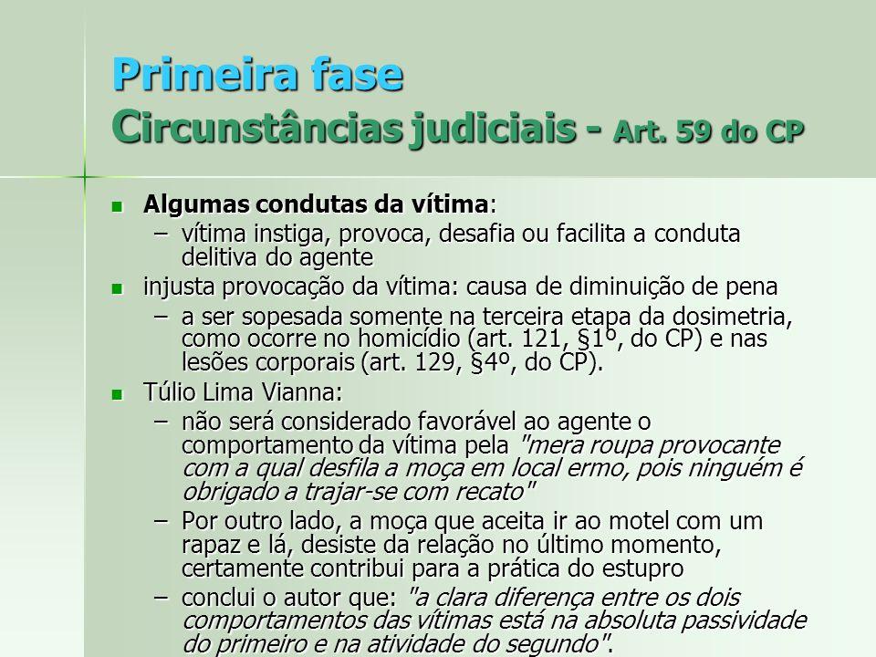 Primeira fase Circunstâncias judiciais - Art. 59 do CP