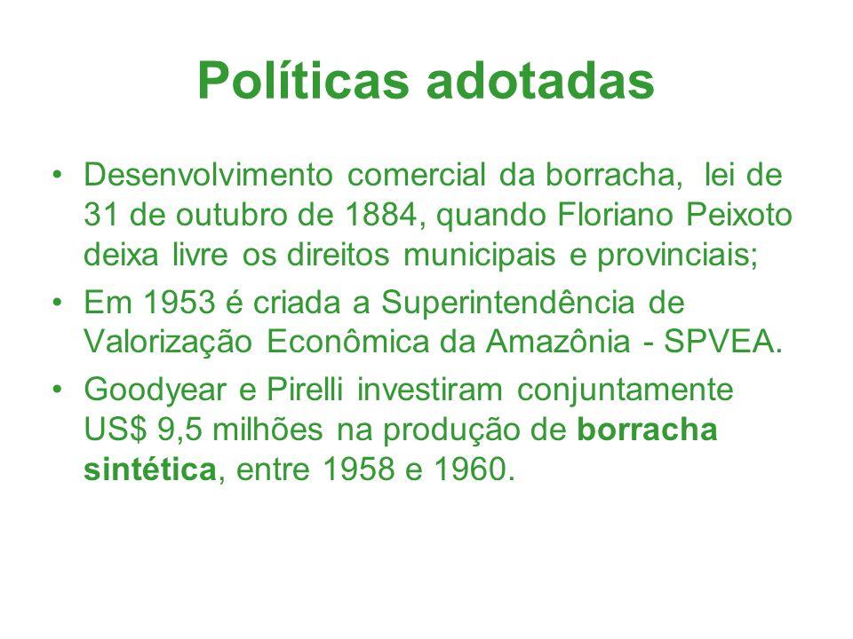 Políticas adotadas