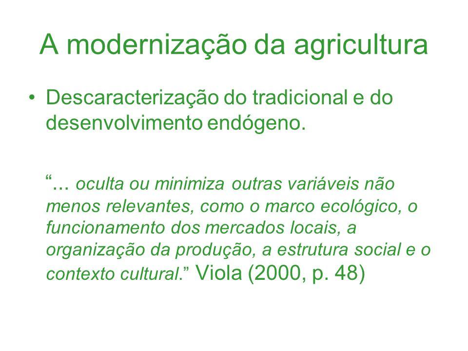 A modernização da agricultura