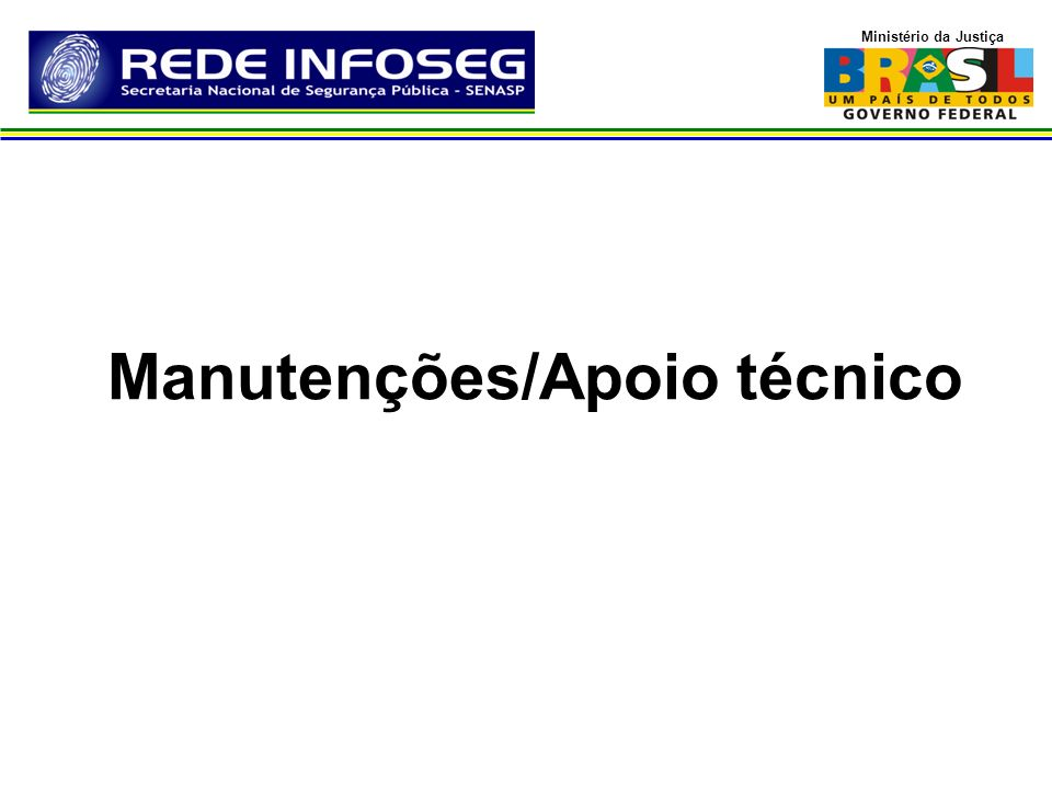 Manutenções/Apoio técnico