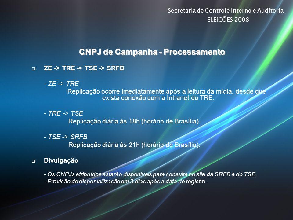 CNPJ de Campanha - Processamento