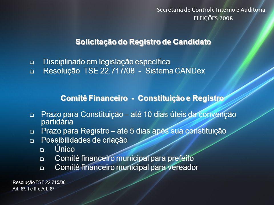 Solicitação do Registro de Candidato
