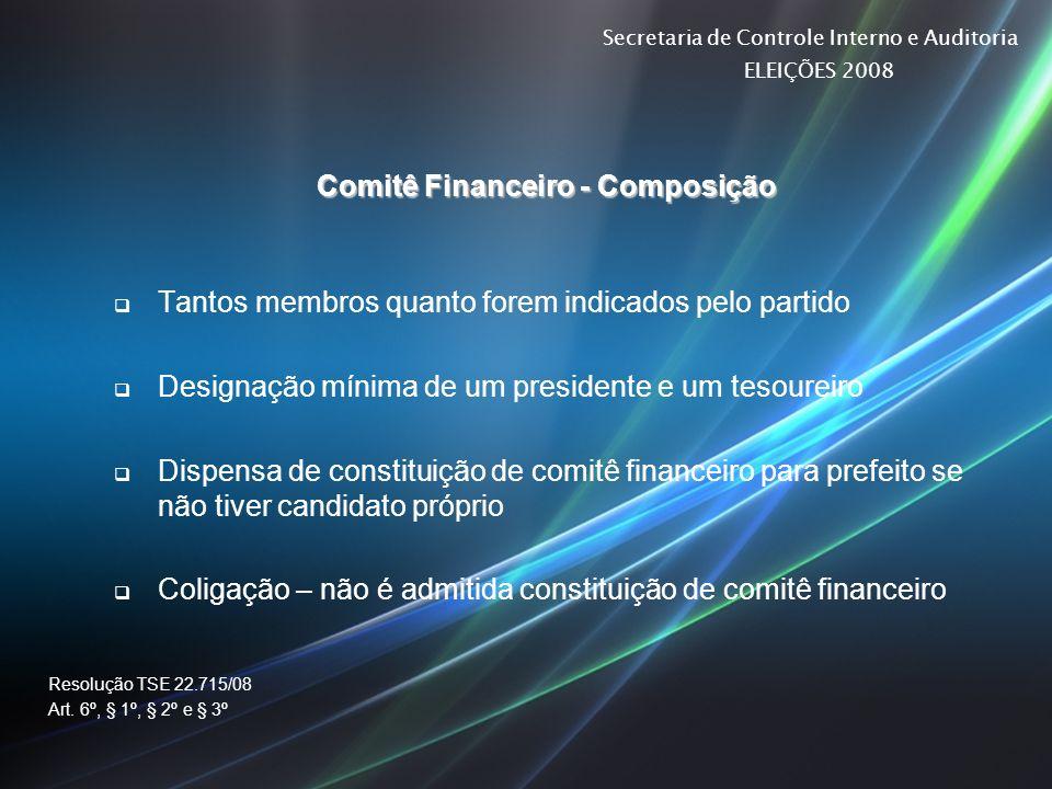 Comitê Financeiro - Composição