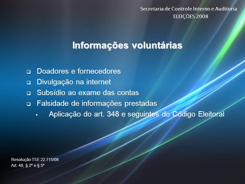 Informações voluntárias