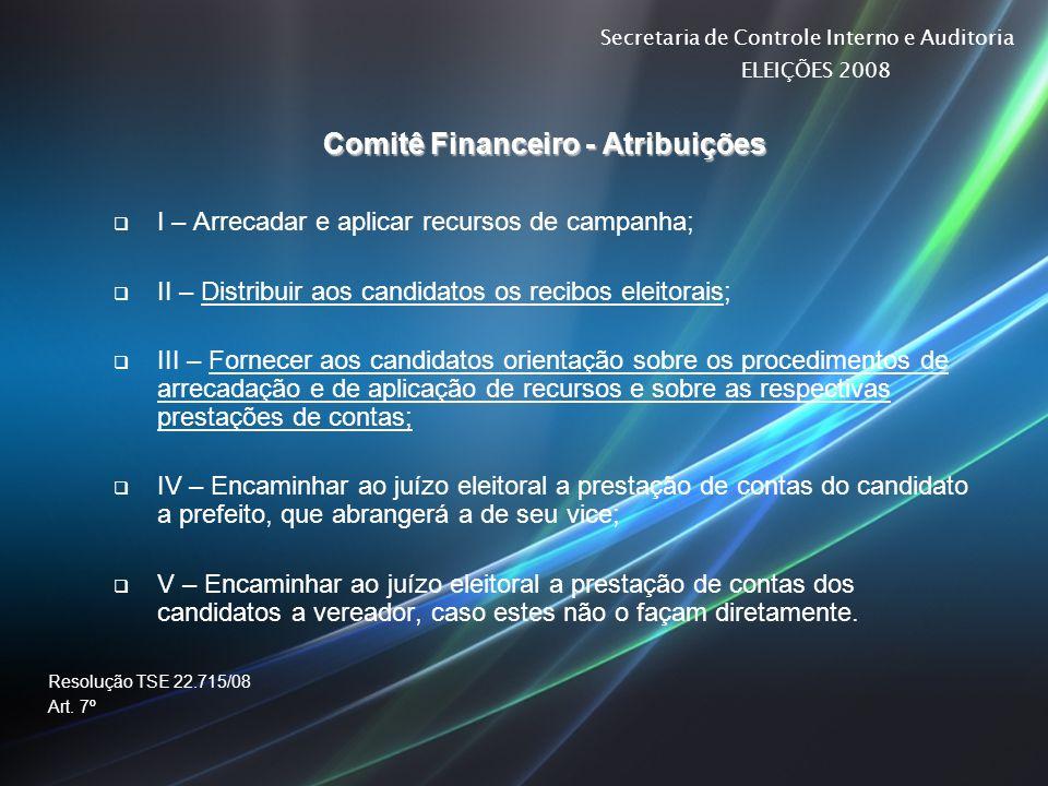 Comitê Financeiro - Atribuições