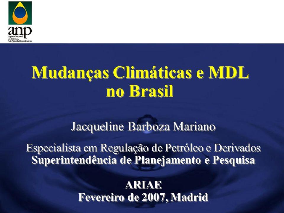 Mudanças Climáticas e MDL Superintendência de Planejamento e Pesquisa