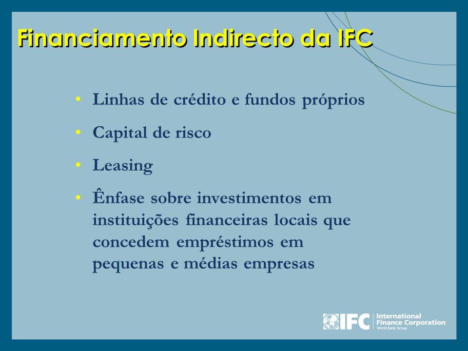 Financiamento Indirecto da IFC