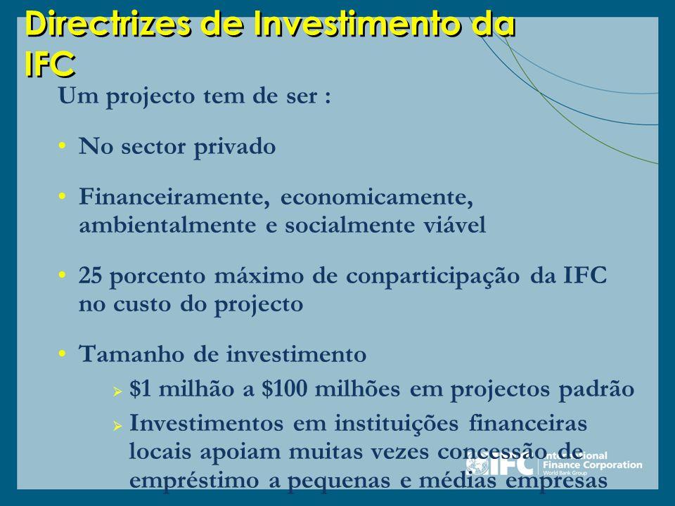 Directrizes de Investimento da IFC