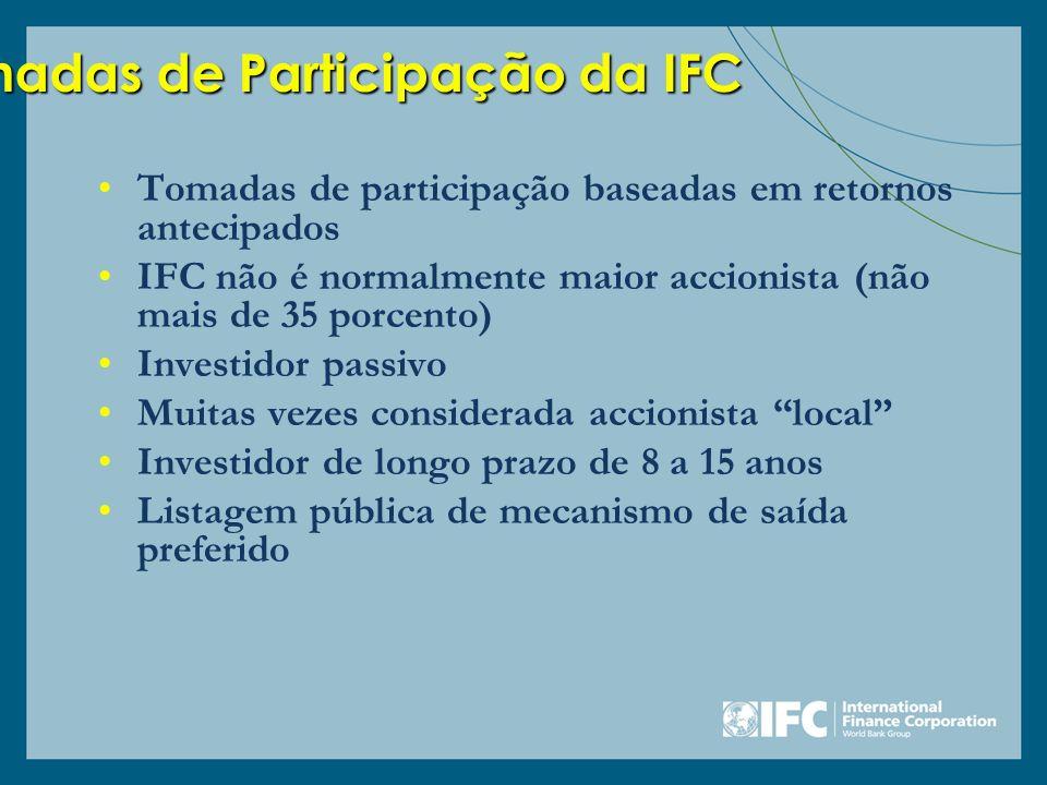 Tomadas de Participação da IFC