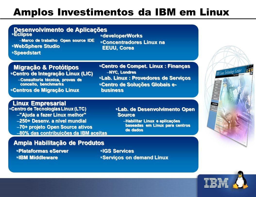 Amplos Investimentos da IBM em Linux