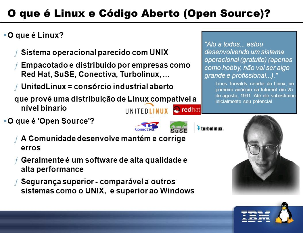 O que é Linux e Código Aberto (Open Source)