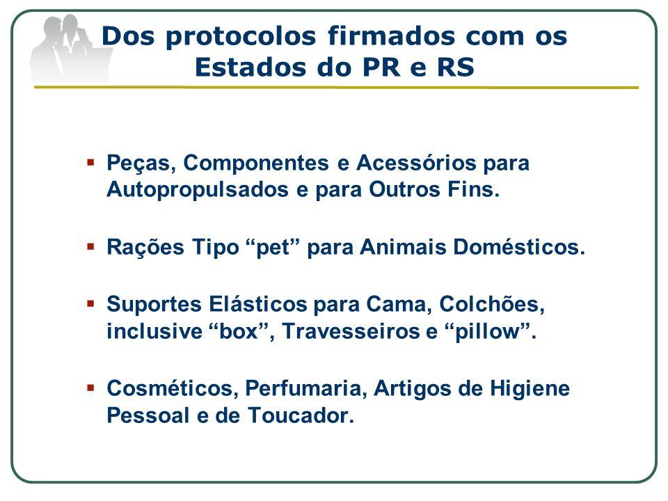Dos protocolos firmados com os Estados do PR e RS