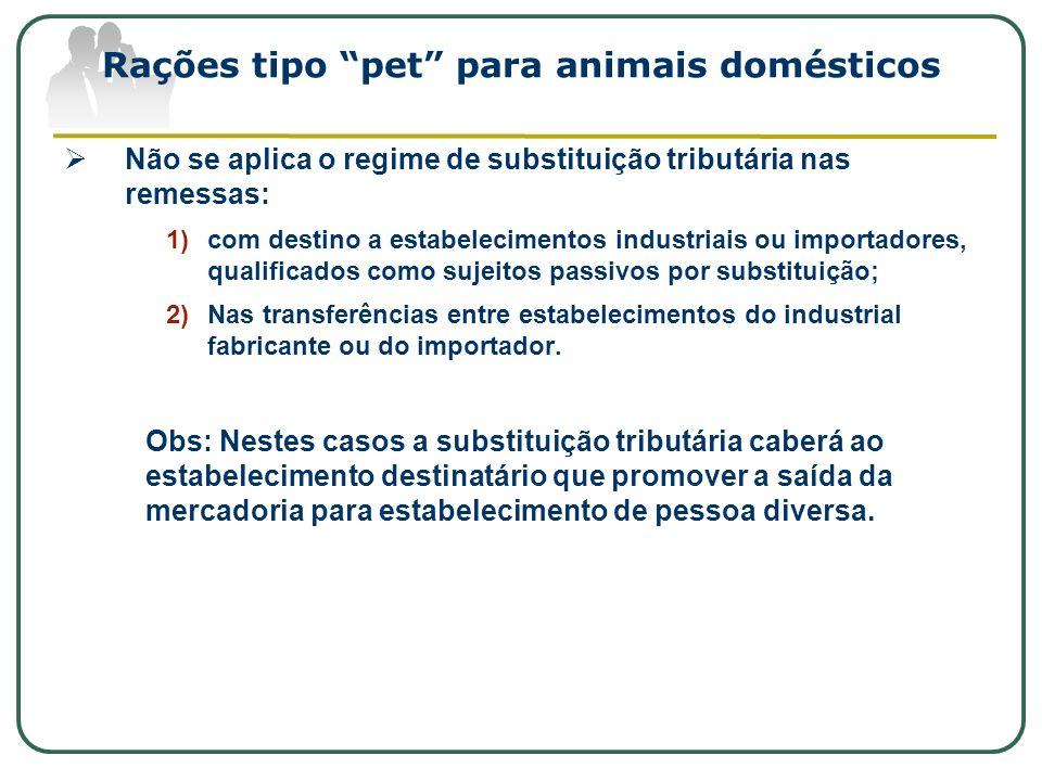 Rações tipo pet para animais domésticos