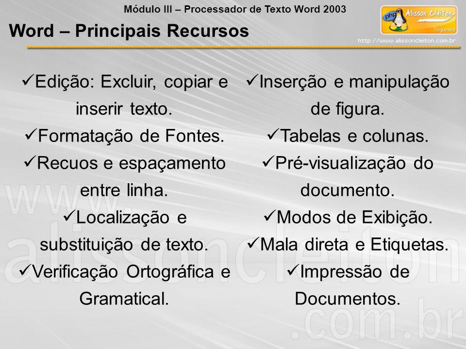 Word – Principais Recursos