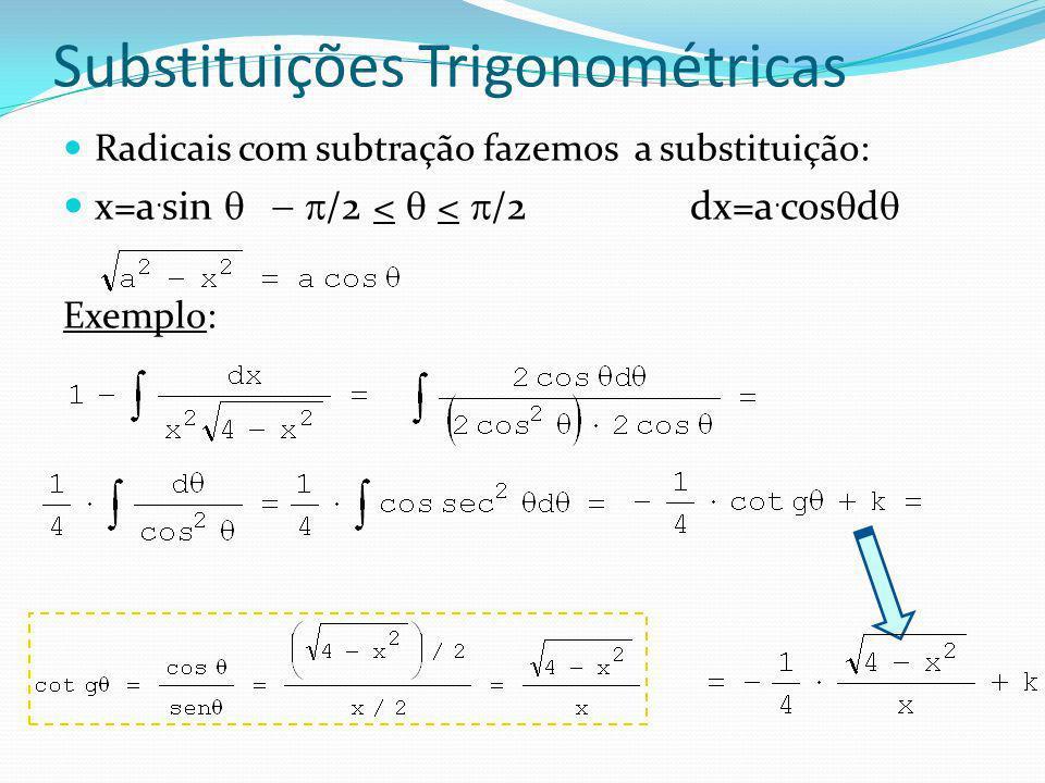 Substituições Trigonométricas