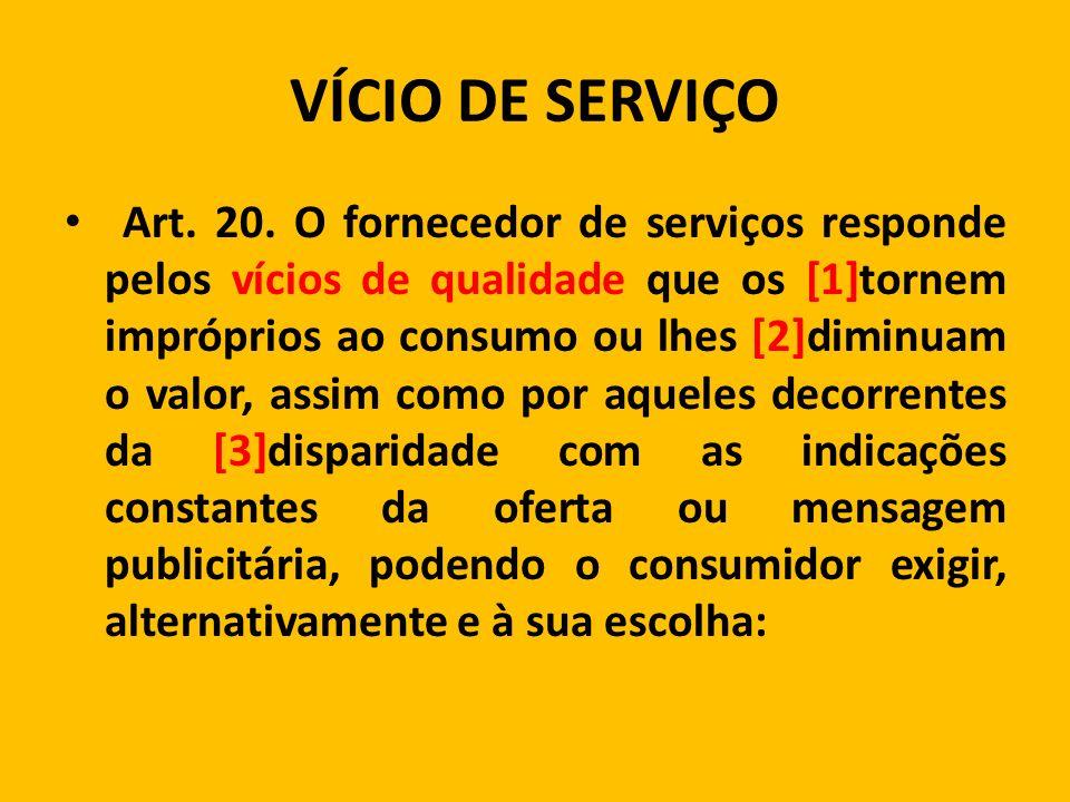 VÍCIO DE SERVIÇO