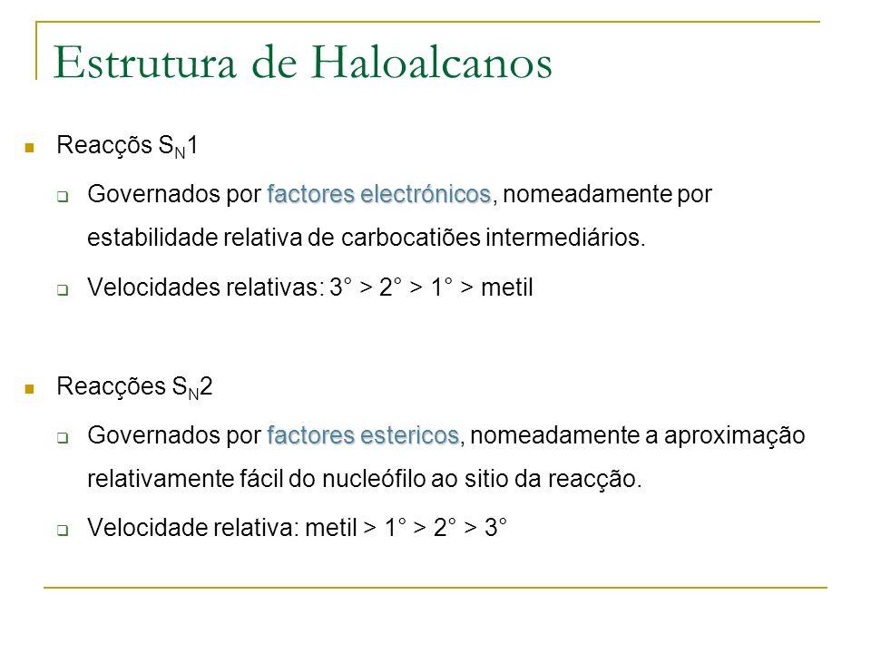 Estrutura de Haloalcanos