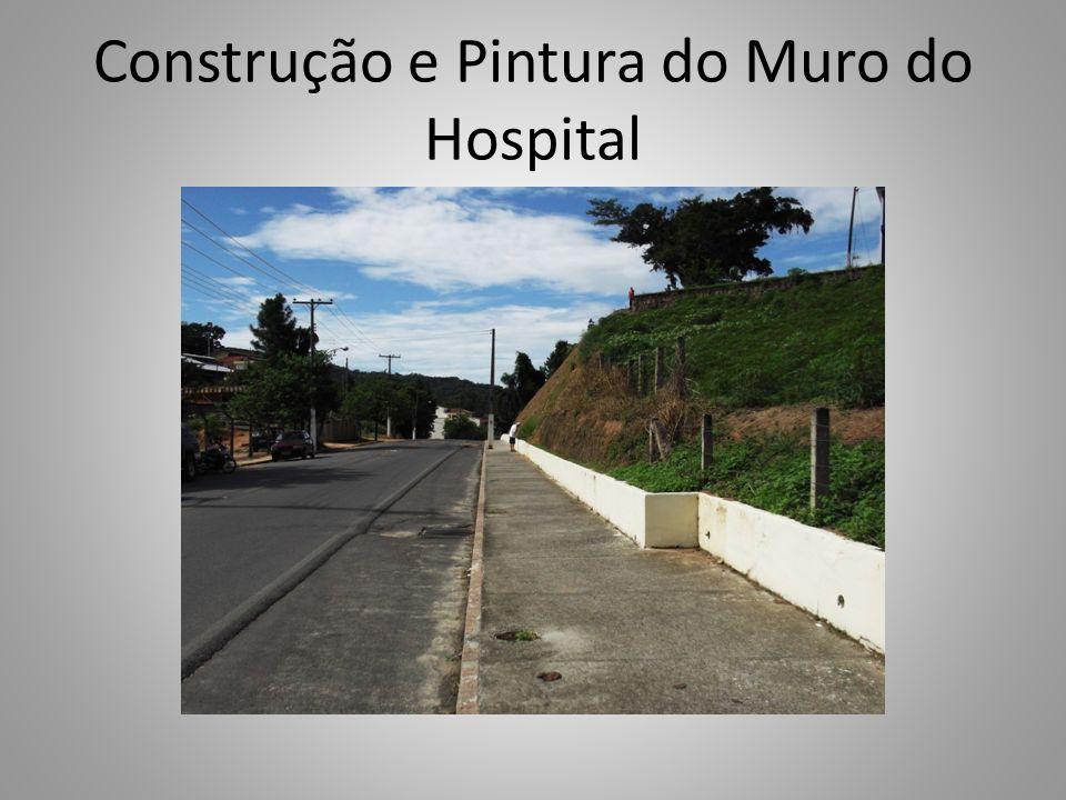 Construção e Pintura do Muro do Hospital