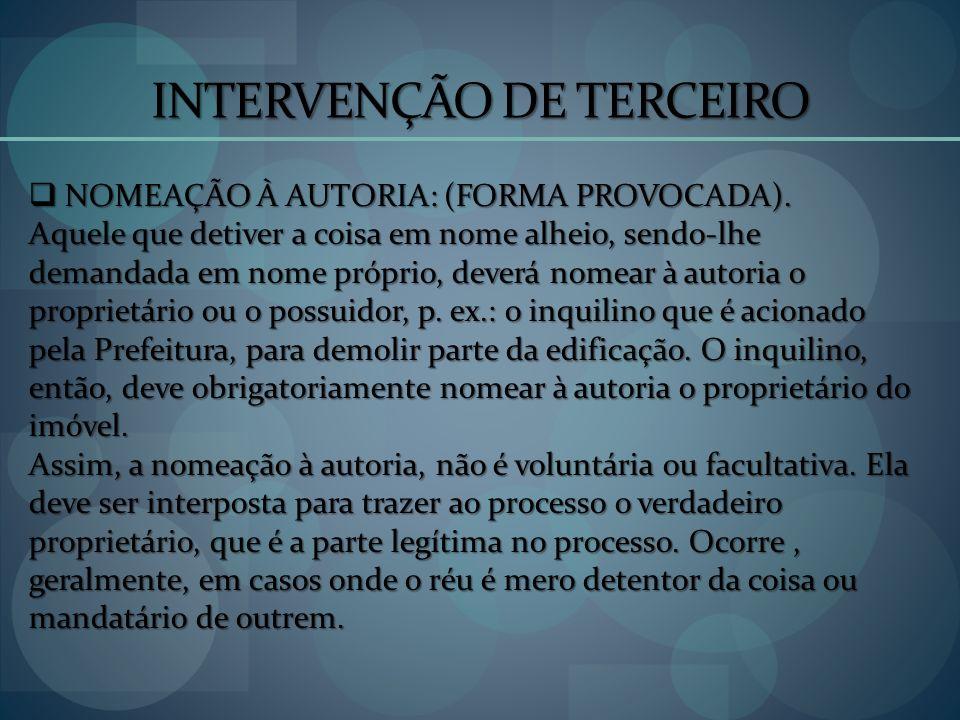 INTERVENÇÃO DE TERCEIRO