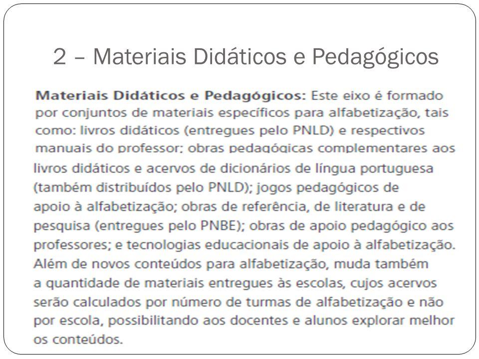 2 – Materiais Didáticos e Pedagógicos