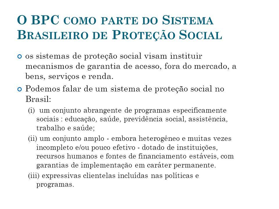 O BPC como parte do Sistema Brasileiro de Proteção Social