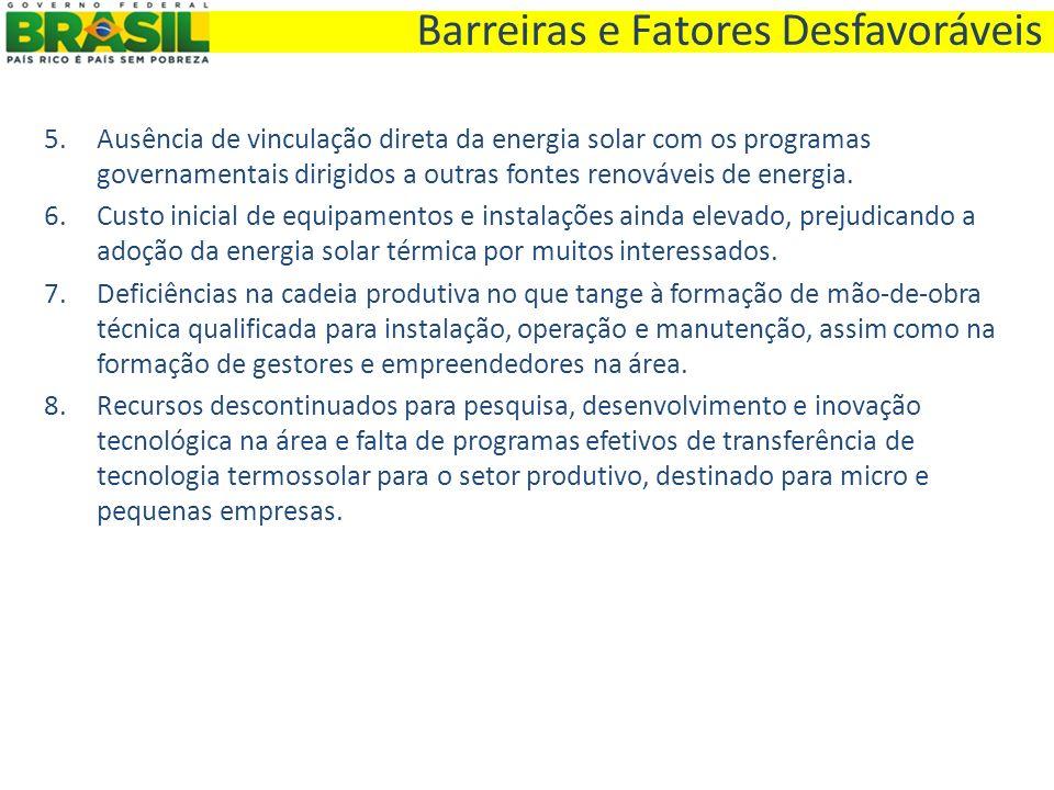 Barreiras e Fatores Desfavoráveis