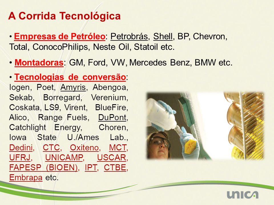 A Corrida Tecnológica Empresas de Petróleo: Petrobrás, Shell, BP, Chevron, Total, ConocoPhilips, Neste Oil, Statoil etc.