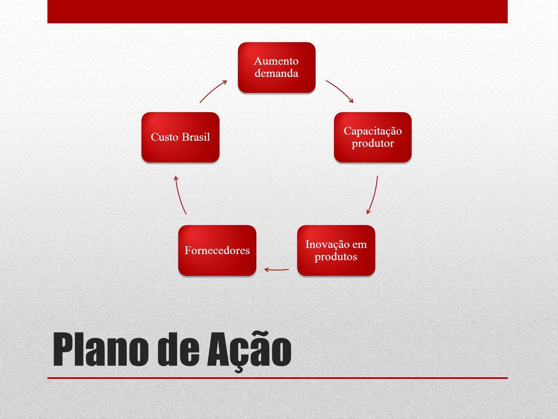 Plano de Ação Aumento demanda Capacitação produtor Custo Brasil