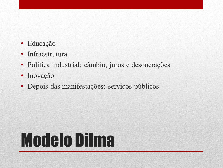 Modelo Dilma Educação Infraestrutura