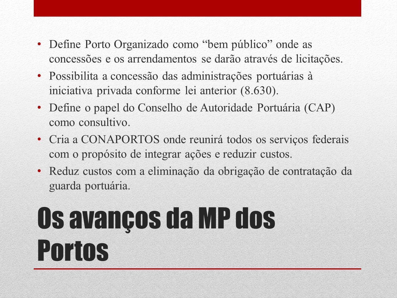 Os avanços da MP dos Portos