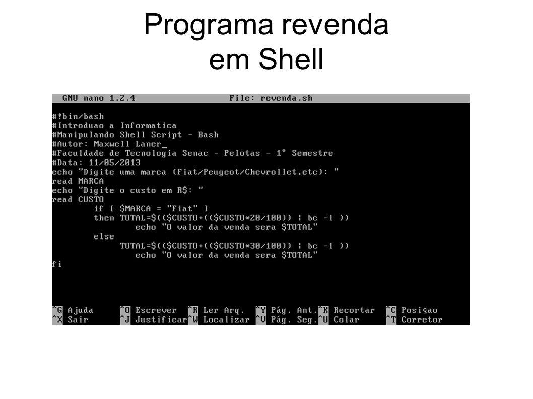 Programa revenda em Shell