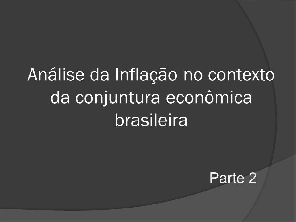 Análise da Inflação no contexto da conjuntura econômica brasileira