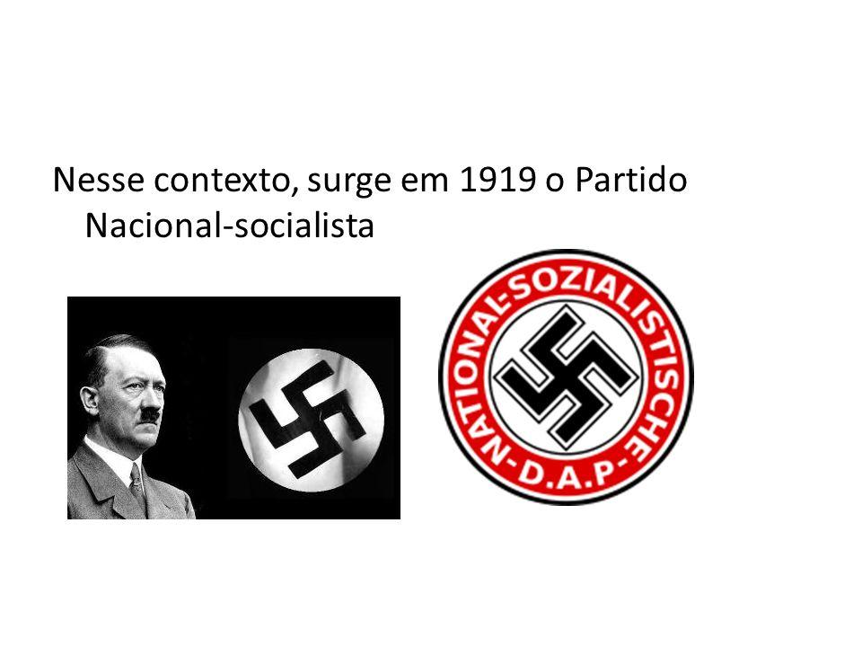 Nesse contexto, surge em 1919 o Partido Nacional-socialista