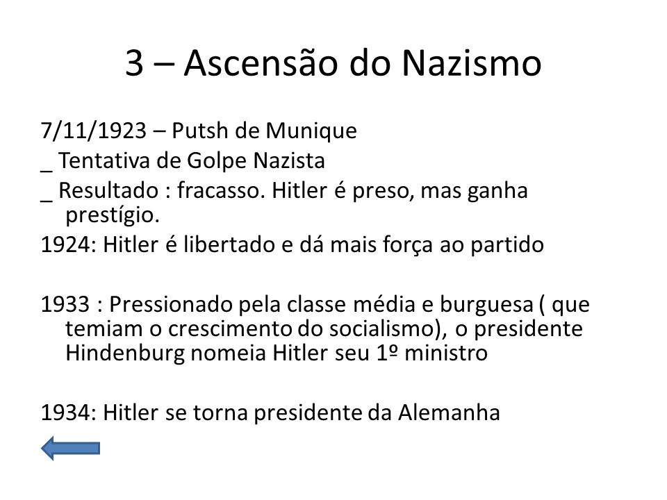 3 – Ascensão do Nazismo