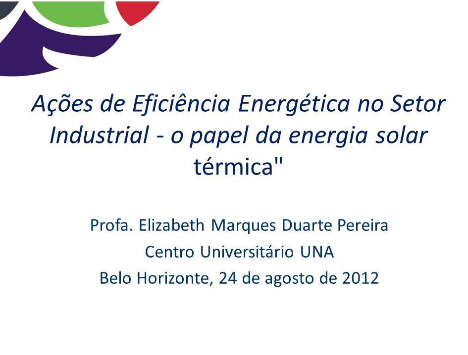 Ações de Eficiência Energética no Setor Industrial - o papel da energia solar térmica