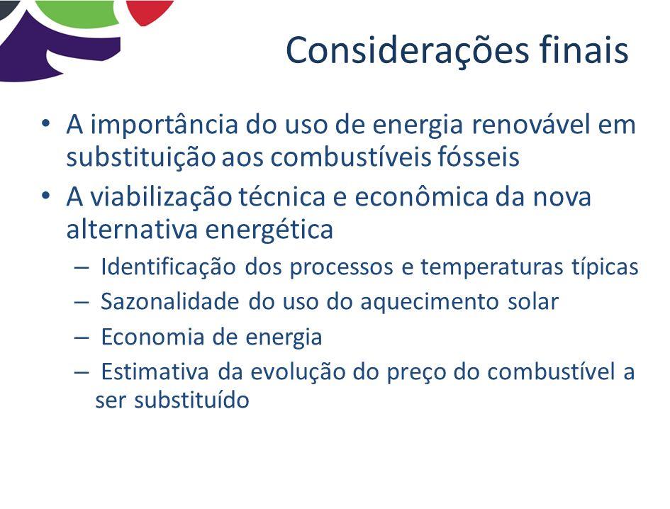 Considerações finais A importância do uso de energia renovável em substituição aos combustíveis fósseis.