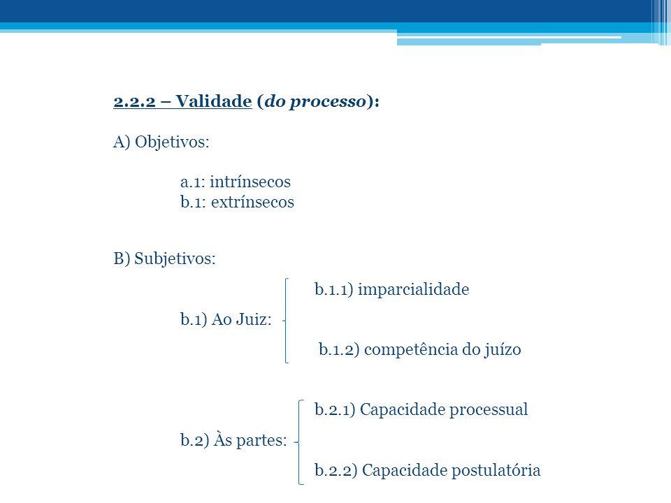 2.2.2 – Validade (do processo):