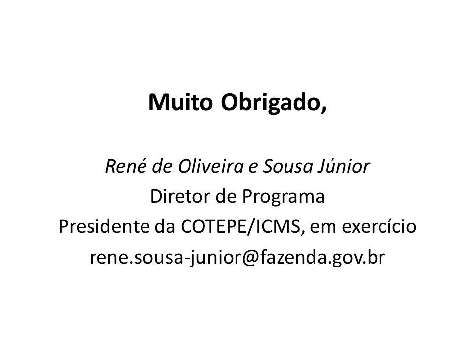 Muito Obrigado, René de Oliveira e Sousa Júnior Diretor de Programa