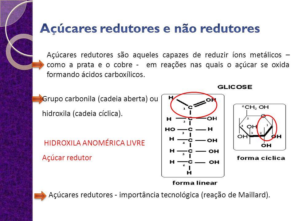 Açúcares redutores e não redutores