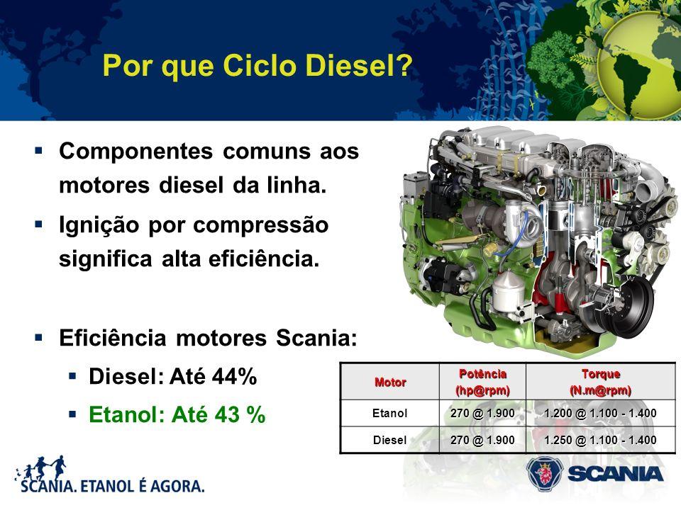 Por que Ciclo Diesel Componentes comuns aos motores diesel da linha.