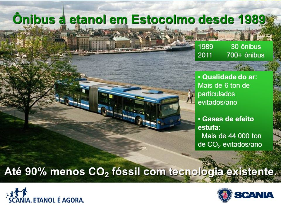 Ônibus a etanol em Estocolmo desde 1989