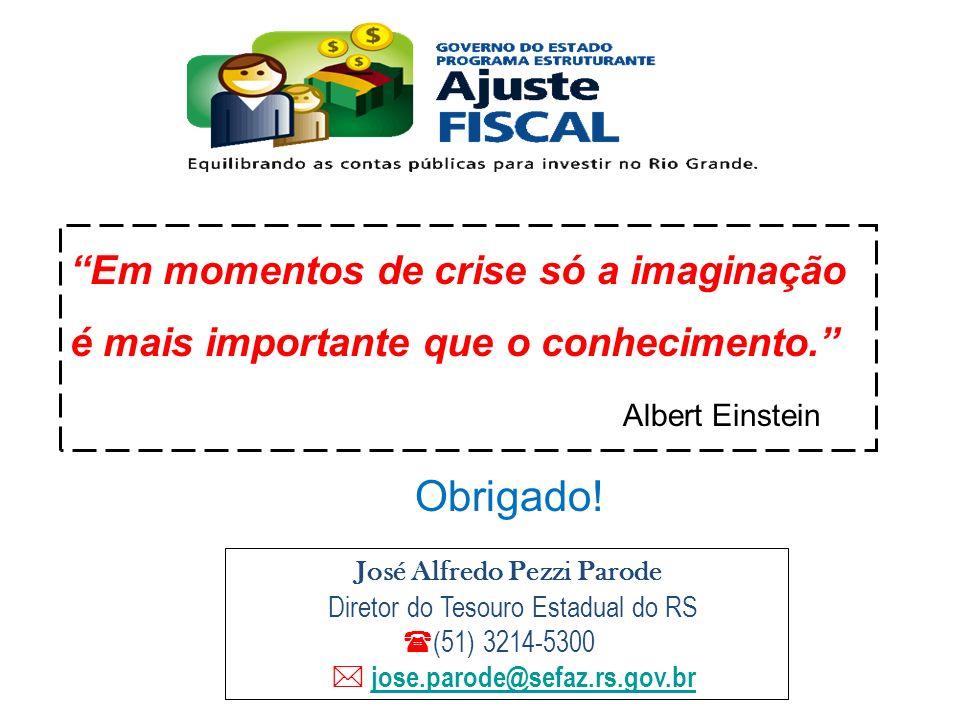 Em momentos de crise só a imaginação é mais importante que o conhecimento.
