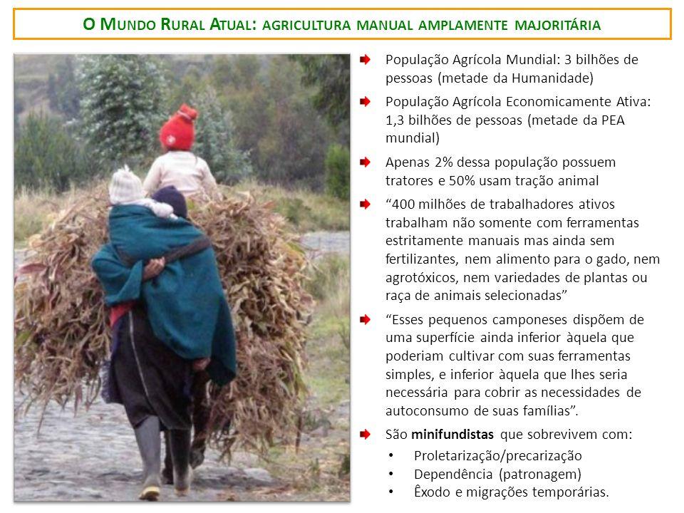 O Mundo Rural Atual: agricultura manual amplamente majoritária