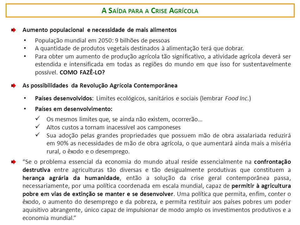 A Saída para a Crise Agrícola