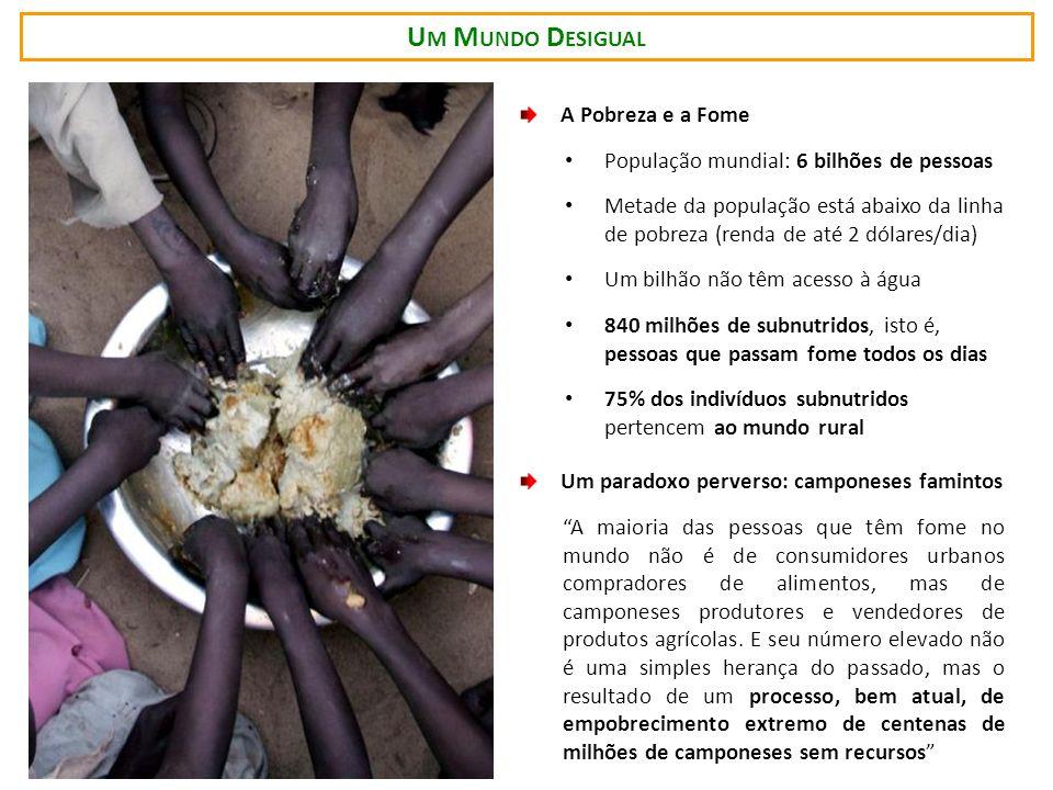 Um Mundo Desigual A Pobreza e a Fome