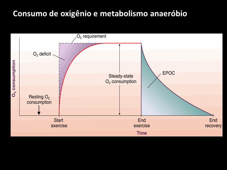 Consumo de oxigênio e metabolismo anaeróbio