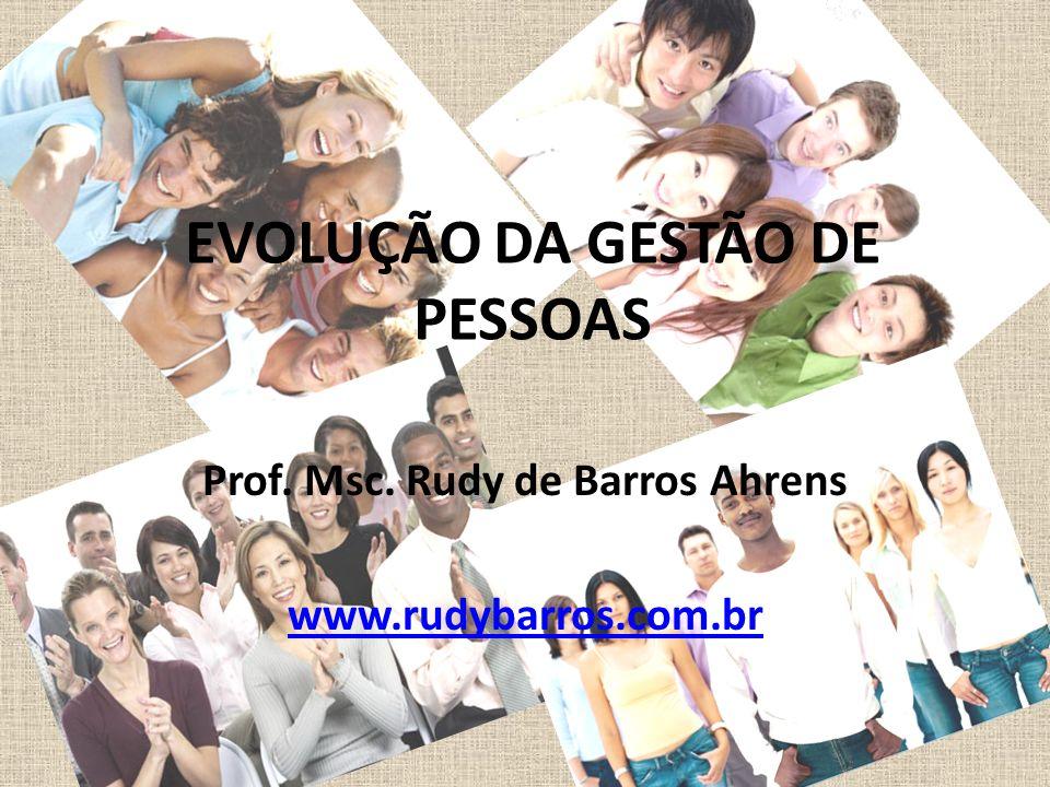 EVOLUÇÃO DA GESTÃO DE PESSOAS