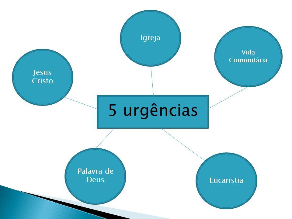 5 urgências Igreja Jesus Cristo Palavra de Deus Eucaristia