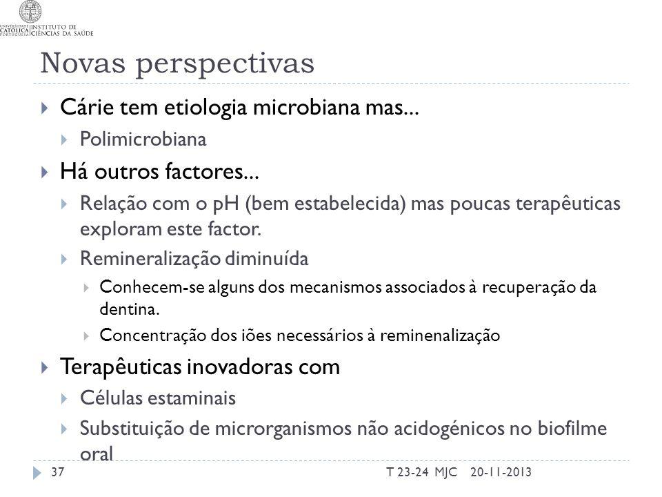 Novas perspectivas Cárie tem etiologia microbiana mas...